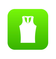 Sleeveless shirt icon digital green vector