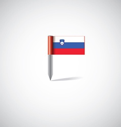 slovenia flag pin vector image