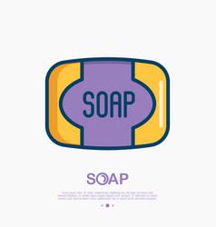 Soap thin line icon vector