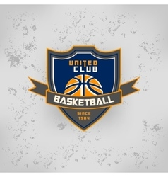 sport basketball team game logo vector image