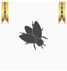 Stencil flies icon sign and button vector