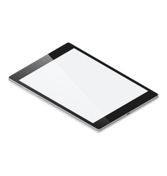 Tablet pc detailed isometric icon vector image