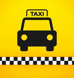 Taxi Cab Symbol on Yellow vector
