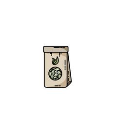 tea craft bag icon vector image