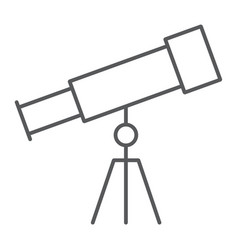 telescope thin line icon school and education vector image
