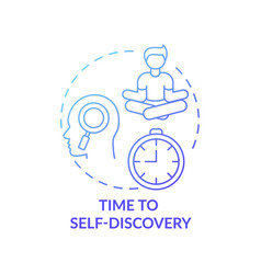 Time to self discovery concept icon vector