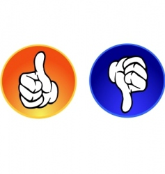 top and flop button vector image