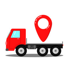 Truck for transportation of things vector