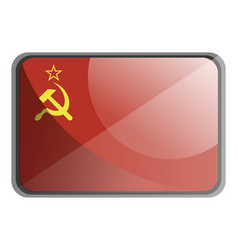 ussr flag on white background vector image