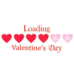 Valentines day loading vector