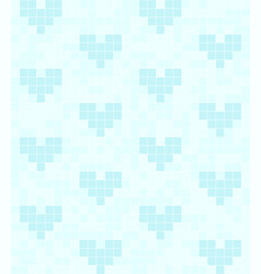 Vcyan heart pattern seamless square background vector