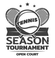 Vintage tennis logo template vector