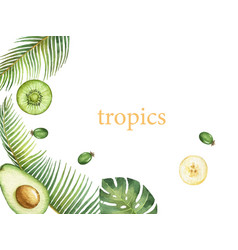 watercolor hand painted card exotic vector image