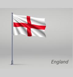 Waving flag england - territory united vector