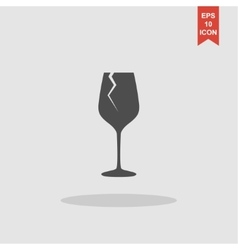 Wine glass icon Flat design style vector image