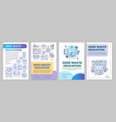 Zero waste education brochure template layout vector