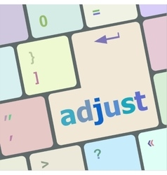 adjust button on the keyboard key close-up vector image vector image