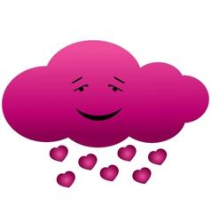 Cloud in love vector image