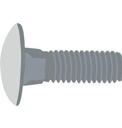 Grey screw vector image