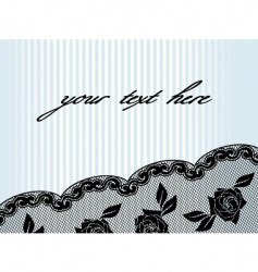 horizontal black french lace background vector image vector image