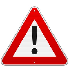 Isolated Alert Triangle Sign vector image