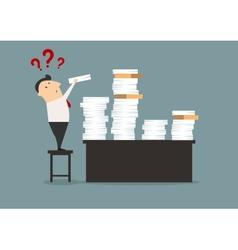 Overworked cartoon businessman vector image