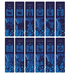 Zodiac Bookmarks vector image vector image
