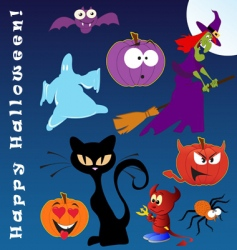 funny halloween vector image vector image