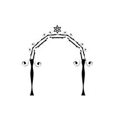 graphic chuppah arch jewish wedding canopy vector image vector image