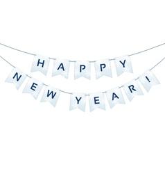 Happy New Year words vector image