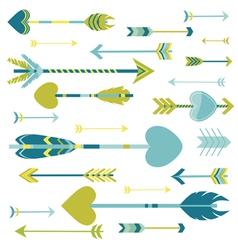 Love arrows background vector