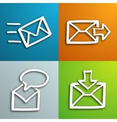 Mail envelopes set vector image