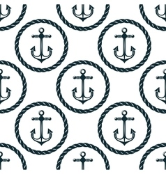 Seamless pattern of marine anchors vector image
