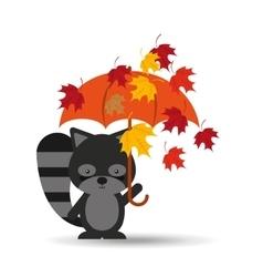 animals fall design vector image vector image