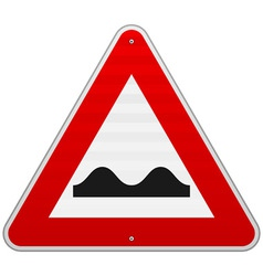 Bumpy Road Sign vector image vector image