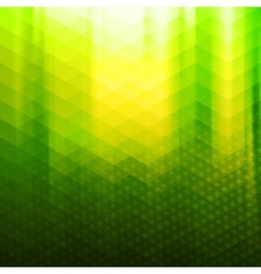Green-yellow color polygonal background vector image vector image