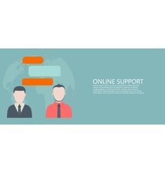 modern flat online support or feedback vector image