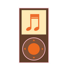 silhouette color with portable music device vector image