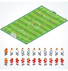 soccer tactics kit vector image vector image