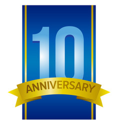 ten years anniversary label vector image vector image