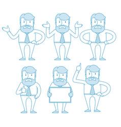 a businessman teacher man with beard vector image