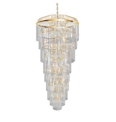 A chandelier with crystal pendants vector