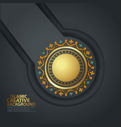 Abstract backgrounds with realistic islamic vector