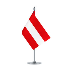 austrian flag hanging on the metallic pole vector image