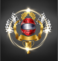 autosport racing competition victory icon vector image