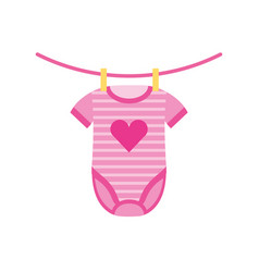 baby shower clothes hanging line celebration vector image