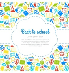 Back to school colorful background with space for vector image