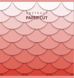 Background with pastel coral trend color paper vector