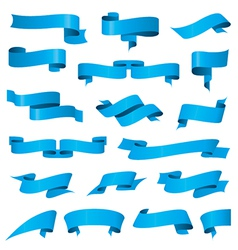 Biggest collection of blue ribbons vector