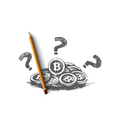 bitcoin concept hand drawn isolated vector image